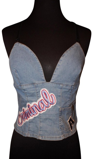 Preload https://img-static.tradesy.com/item/26229832/dolce-and-gabbana-blue-d-and-g-vintage-denim-backless-crop-tank-topcami-size-0-xs-0-1-650-650.jpg