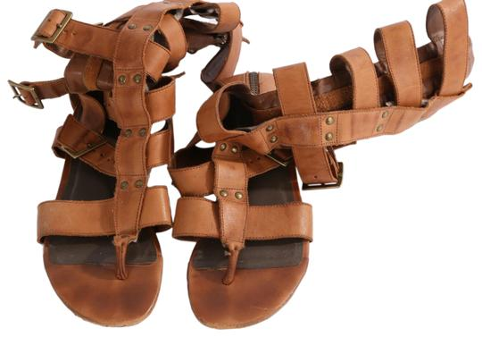 Preload https://img-static.tradesy.com/item/26229847/joie-brown-camel-leather-gladiator-strap-sandals-bootsbooties-size-us-8-regular-m-b-0-1-540-540.jpg