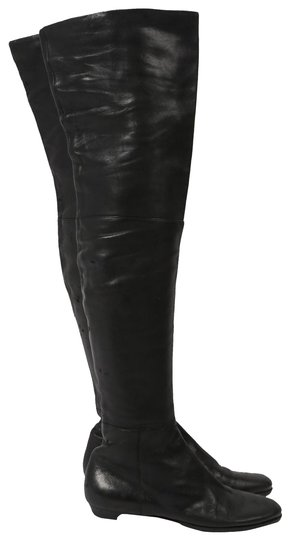 Preload https://item1.tradesy.com/images/jimmy-choo-black-leather-over-the-knee-bootsbooties-size-us-9-regular-m-b-26229875-0-1.jpg?width=440&height=440