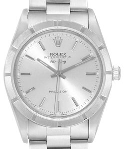 Rolex Rolex Air King Silver Dial 34mm Oyster Bracelet Steel Mens Watch 14010