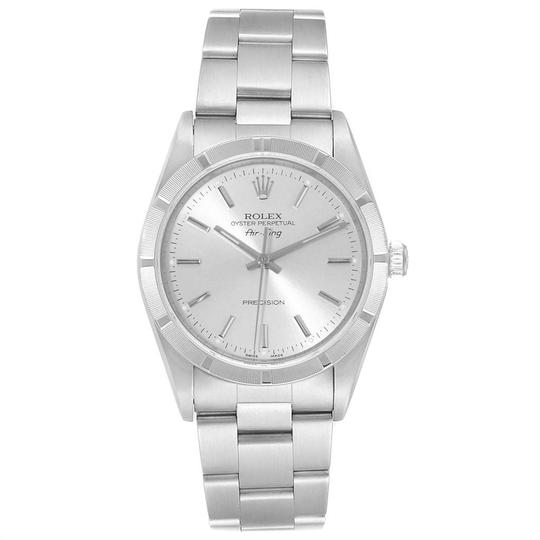 Rolex Rolex Air King Silver Dial 34mm Oyster Bracelet Steel Mens Watch 14010 Image 1