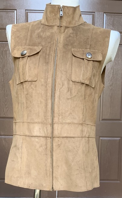 Lauren Ralph Lauren Faux Leather Polyester Fully Lined Vest Image 1