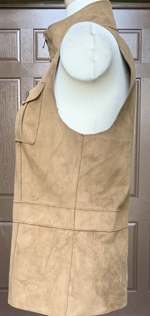 Lauren Ralph Lauren Faux Leather Polyester Fully Lined Vest Image 3
