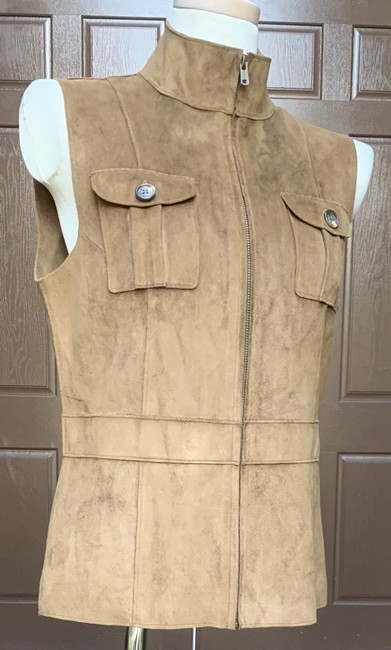 Lauren Ralph Lauren Faux Leather Polyester Fully Lined Vest Image 9