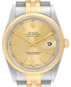 Rolex Rolex Datejust 36 Steel 18K Yellow Gold Mens Watch 16233 - item med img