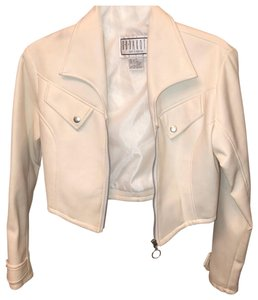 BB Dakota white Leather Jacket