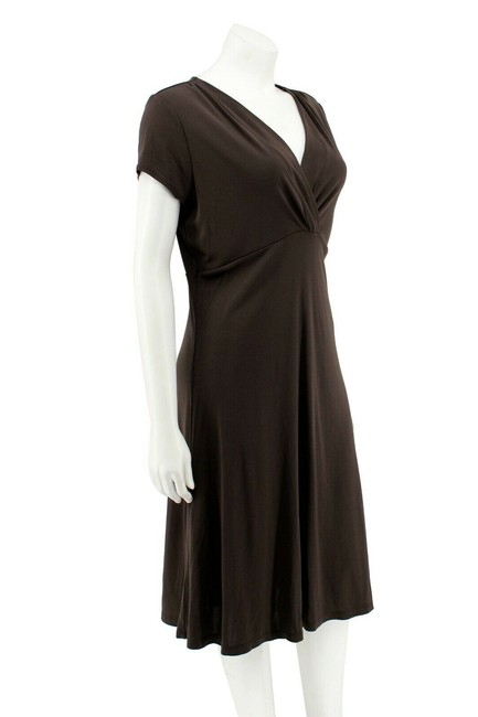 Ann Taylor Matte Jersey Empire Waist Wrap Sheath Dress Image 1