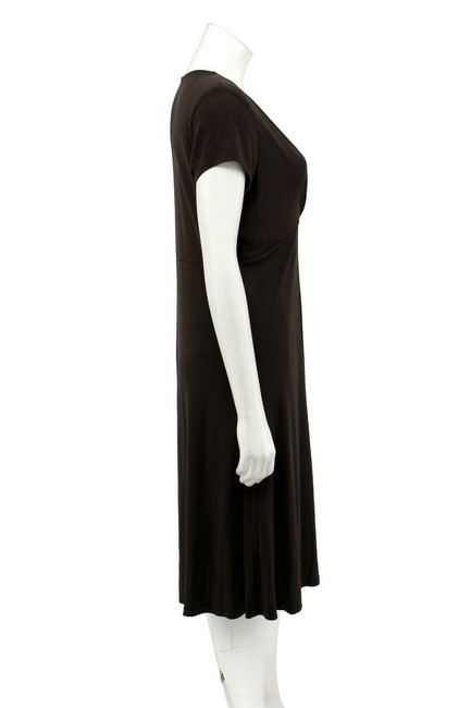 Ann Taylor Matte Jersey Empire Waist Wrap Sheath Dress Image 2