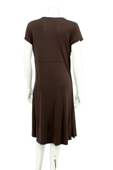 Ann Taylor Matte Jersey Empire Waist Wrap Sheath Dress Image 3