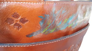 Patricia Nash Designs Hand Painted Tooled Leather Italian Leather Cross Body Bag