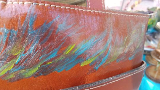 Patricia Nash Designs Hand Painted Tooled Leather Italian Leather Cross Body Bag Image 11
