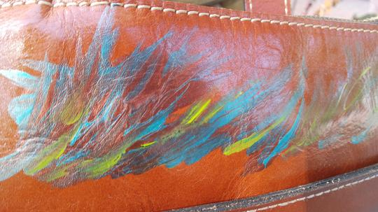 Patricia Nash Designs Hand Painted Tooled Leather Italian Leather Cross Body Bag Image 6