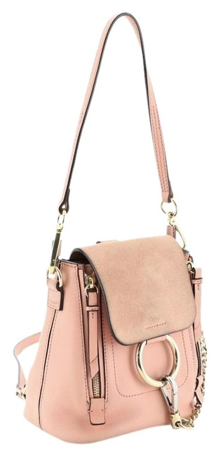 Item - Faye And Suede Mini Pink Leather Backpack