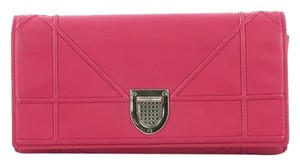 Dior Christian Leather Pink Clutch