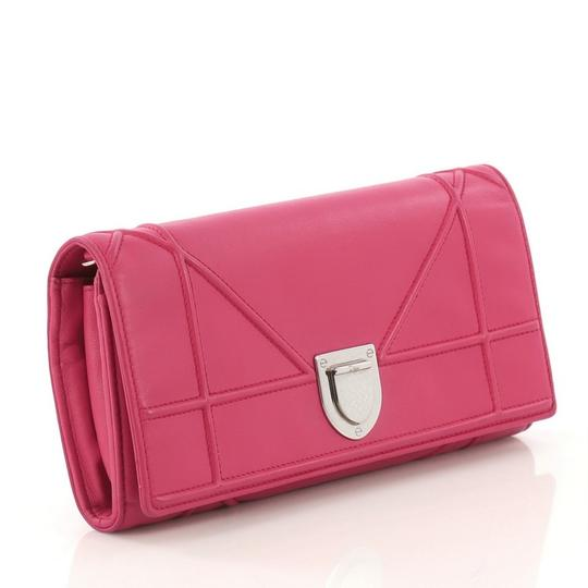 Dior Christian Leather Pink Clutch Image 1