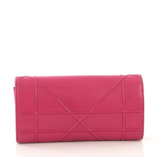 Dior Christian Leather Pink Clutch Image 2