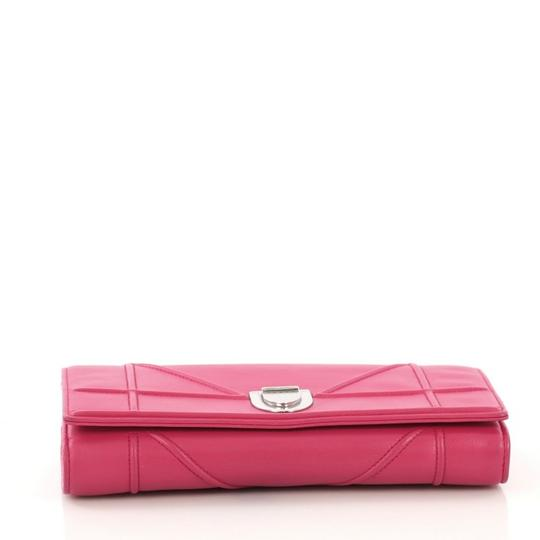 Dior Christian Leather Pink Clutch Image 3