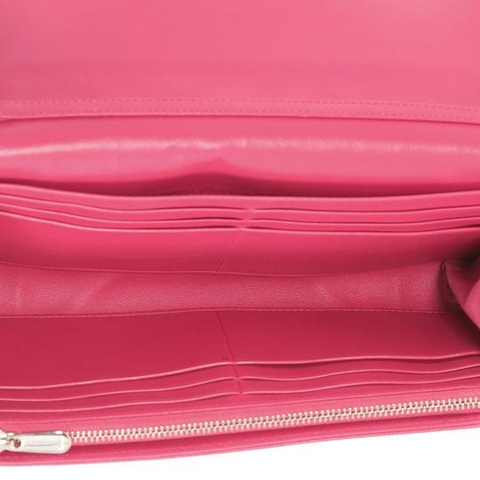 Dior Christian Leather Pink Clutch Image 4
