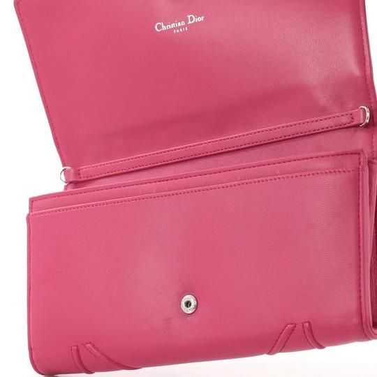 Dior Christian Leather Pink Clutch Image 5