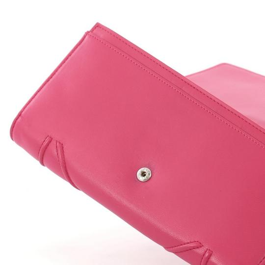 Dior Christian Leather Pink Clutch Image 6