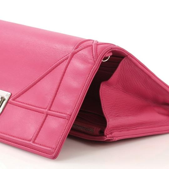 Dior Christian Leather Pink Clutch Image 7