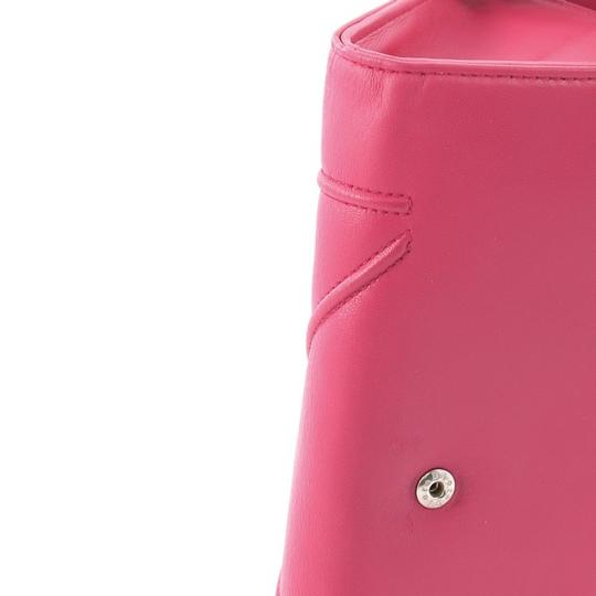 Dior Christian Leather Pink Clutch Image 8