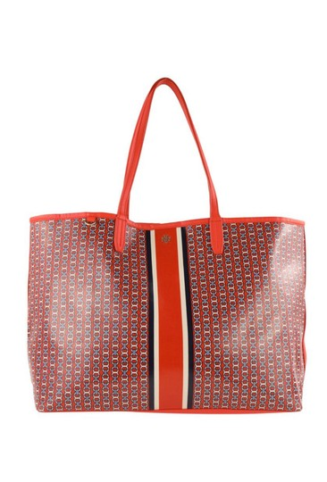 Preload https://img-static.tradesy.com/item/26230098/tory-burch-gemini-link-red-coated-canvas-tote-0-0-540-540.jpg