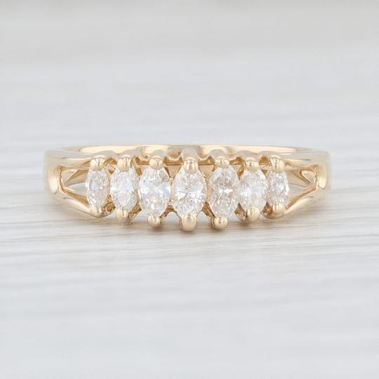 Other 0.38ctw Diamond Tiered Diamond Ring - 14k Yellow Gold Size 7 Stackable Image 1