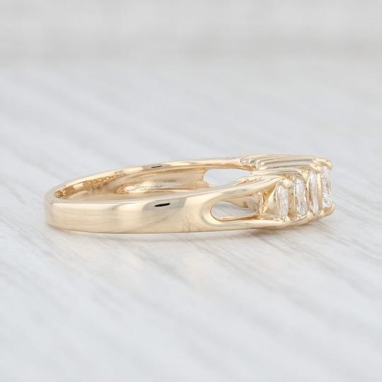 Other 0.38ctw Diamond Tiered Diamond Ring - 14k Yellow Gold Size 7 Stackable Image 4