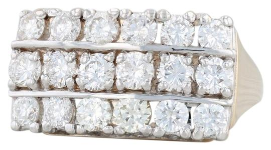 Preload https://img-static.tradesy.com/item/26230171/white-and-yellow-gold-diamond-cocktail-size-775-cluster-ring-0-1-540-540.jpg