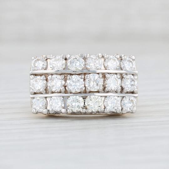 Other Diamond Cocktail Ring - 14k Yellow White Gold Size 7.75 Cluster Image 1
