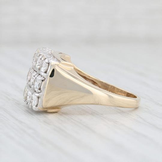 Other Diamond Cocktail Ring - 14k Yellow White Gold Size 7.75 Cluster Image 2