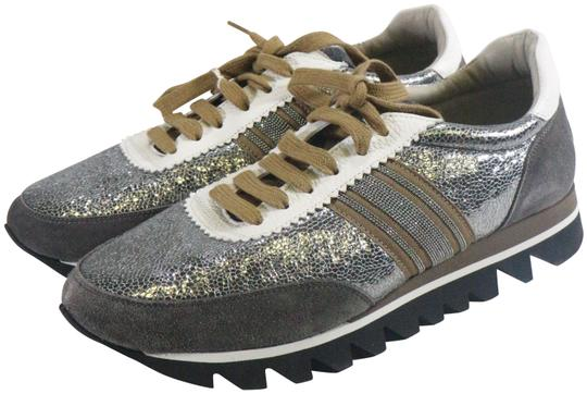 Preload https://img-static.tradesy.com/item/26230182/brunello-cucinelli-silver-precious-band-laminated-leather-sneakers-size-eu-405-approx-us-105-regular-0-1-540-540.jpg