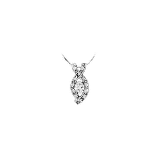 Preload https://img-static.tradesy.com/item/26230191/white-14k-gold-pendant-with-oval-cubic-zirconia-and-round-150-carat-necklace-0-0-540-540.jpg