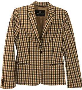 Aquascutum Brown/Blue Checked Blazer