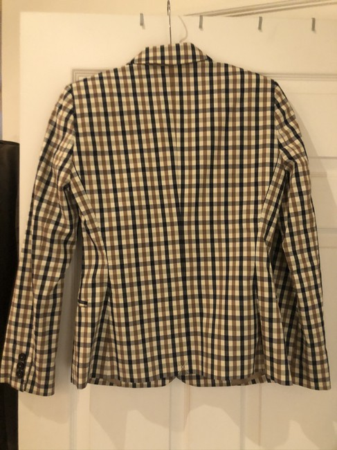Aquascutum Brown/Blue Checked Blazer Image 1