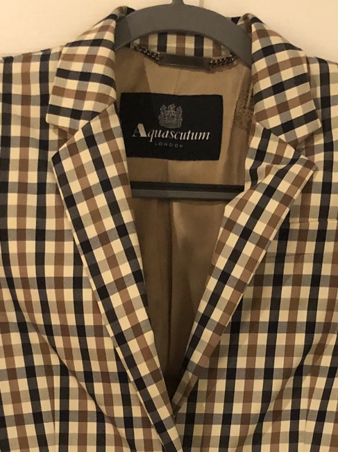 Aquascutum Brown/Blue Checked Blazer Image 2