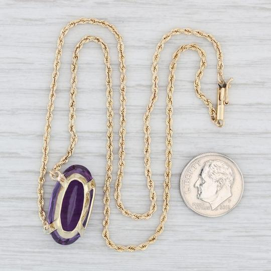 Other 13.3ctw Amethyst Stationary Pendant Necklace - 14k 17