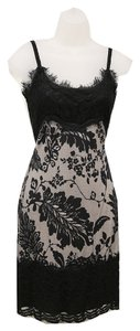 Diane Von Furstenberg Lace Pattern Thin Straps Dress