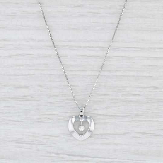 Milor Floating Diamond Heart Pendant Necklace - 14k 17