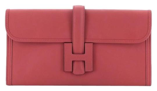 Hermès Leather Red Clutch Image 0