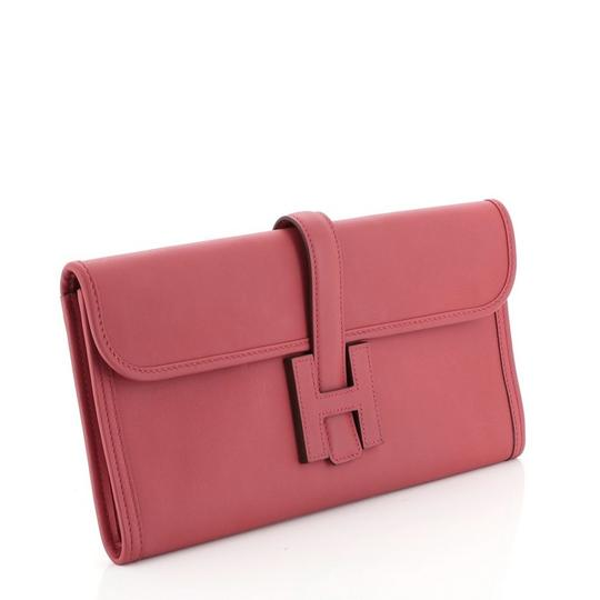 Hermès Leather Red Clutch Image 1