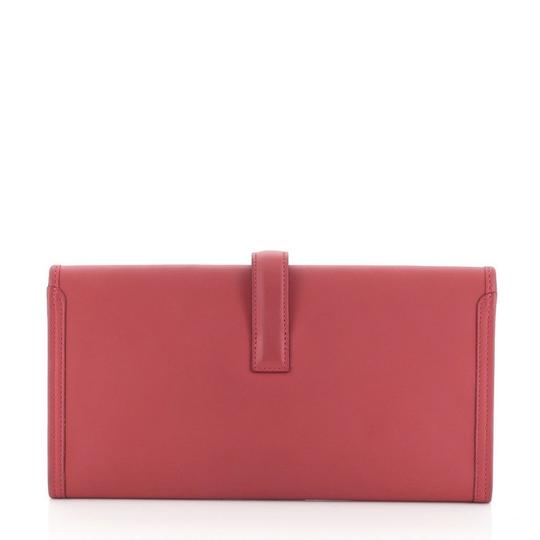 Hermès Leather Red Clutch Image 2