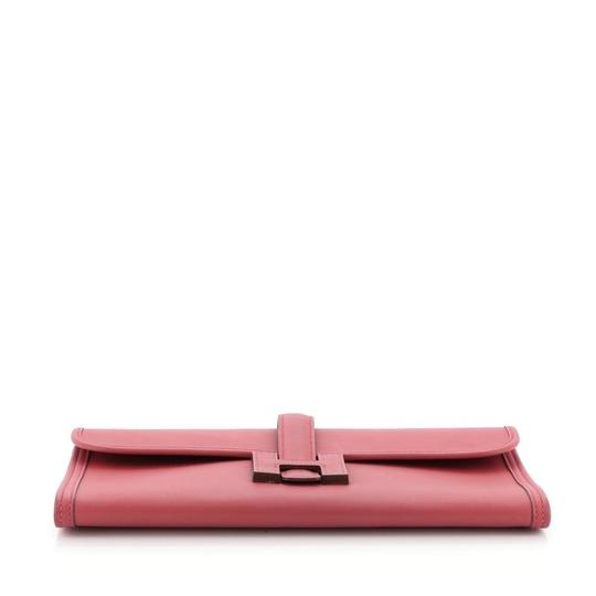 Hermès Leather Red Clutch Image 3
