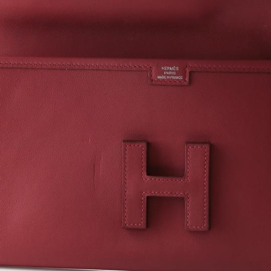 Hermès Leather Red Clutch Image 5