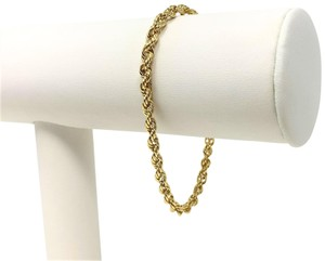 Other 14k Yellow Gold Solid 7.3g Rope Chain 3.5mm Bracelet 7 Inches