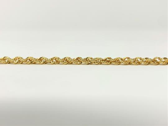 Other 14k Yellow Gold Solid 7.3g Rope Chain 3.5mm Bracelet 7 Inches Image 3