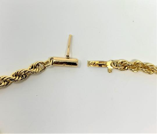 Other 14k Yellow Gold Solid 7.3g Rope Chain 3.5mm Bracelet 7 Inches Image 5