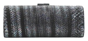 Jimmy Choo Tube Python Black and Multicolor Clutch