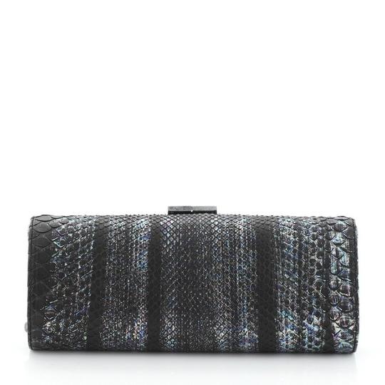 Jimmy Choo Tube Python Black and Multicolor Clutch Image 2